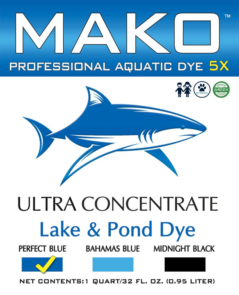 Mako Professional Aquatic Lake and Pond Dye 5X Concentrate